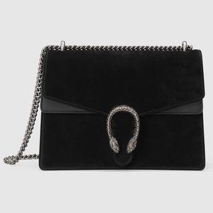 Gucci Bags - Gucci black suede Dionysus medium bag - Brand new